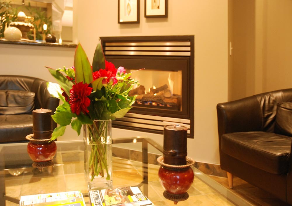 welcome smile fireplace